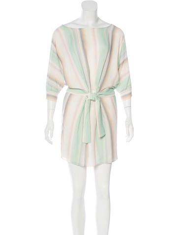 Fendi Silk Watercolor Print Dress None