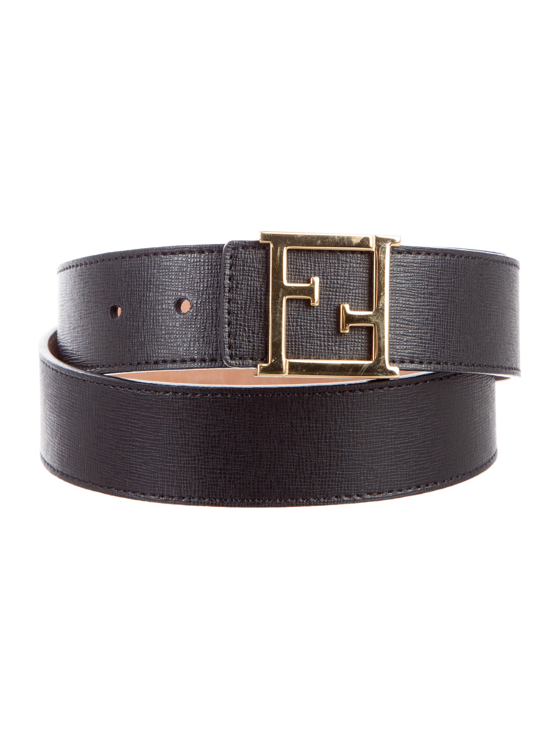 fendi leather logo belt accessories fen52785 the
