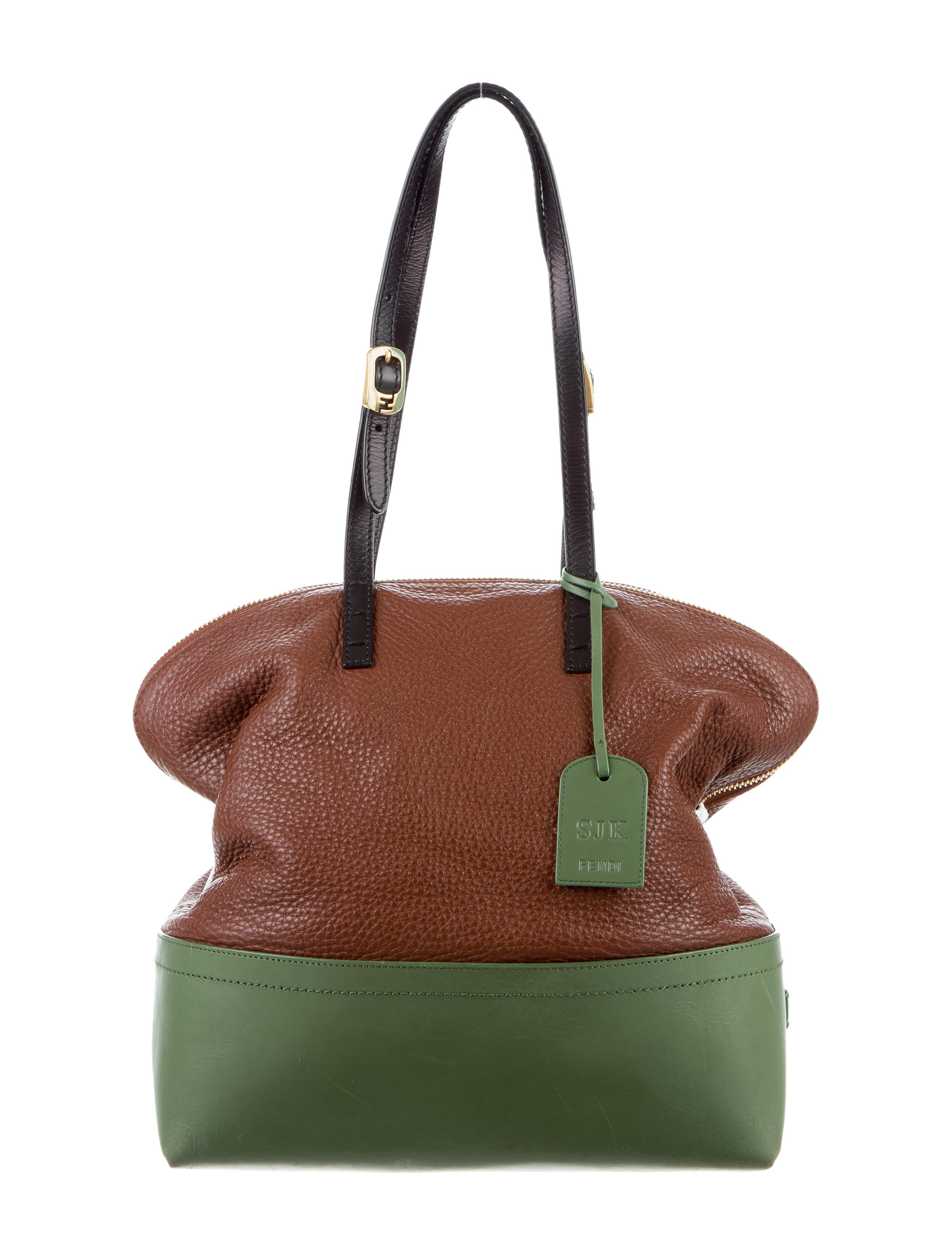 fendi two-tone 2bag - handbags