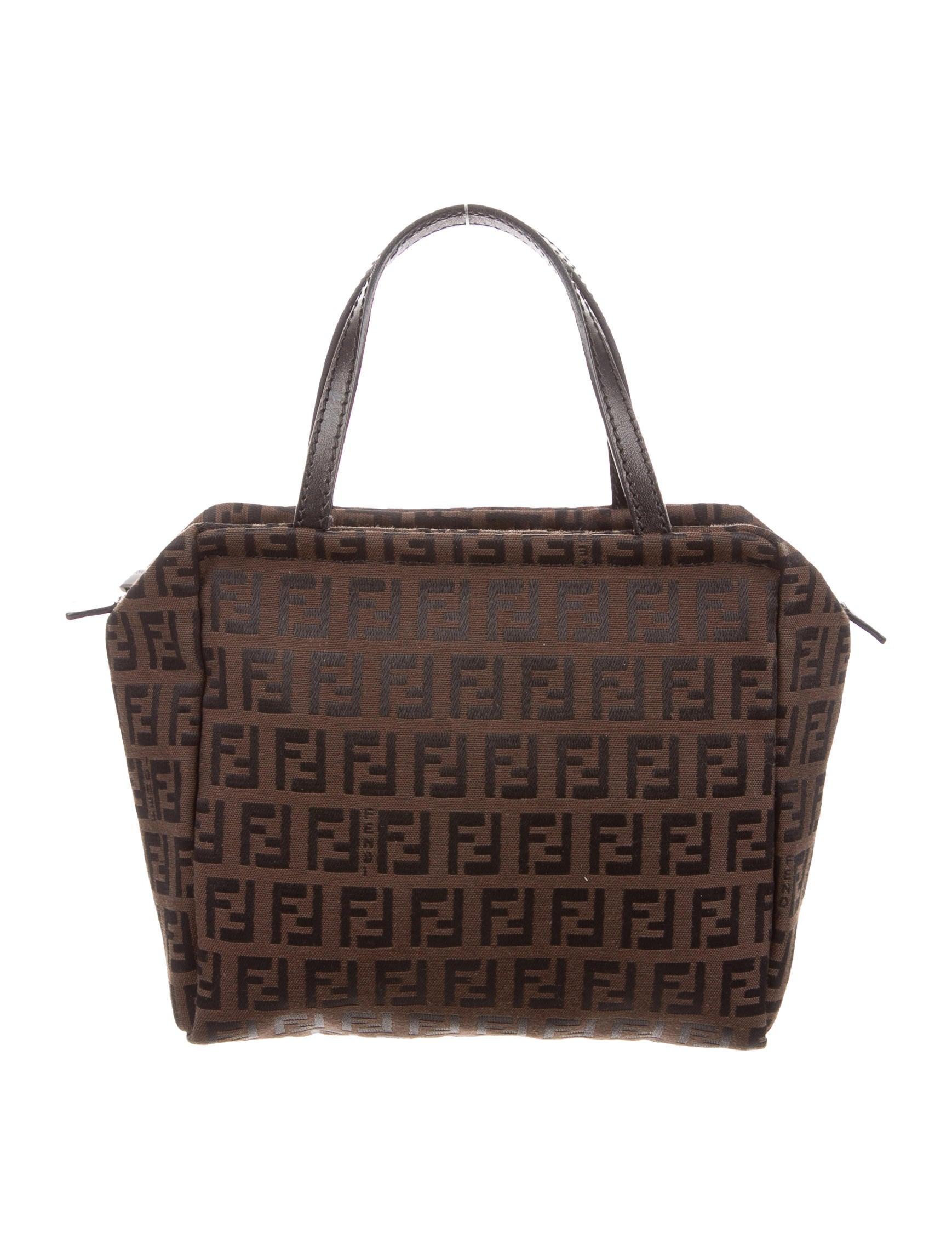 Eclectic Decor Fendi Zucchino Tote Bag Handbags Fen52896 The Realreal