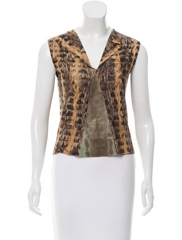 Fendi Sleeveless Karung-Accented Top None