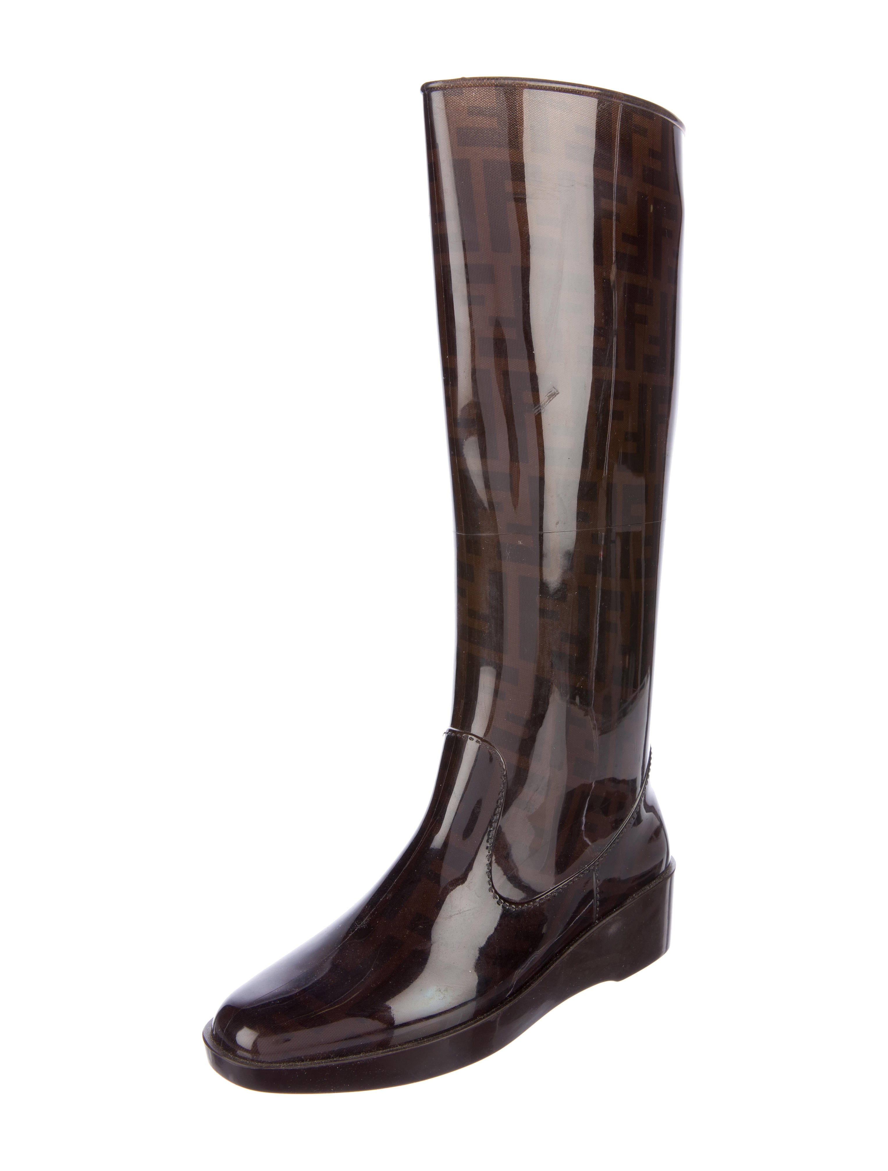 Amazing Hunter White Knee-High Rain Boots - Shoes - WH820728 | The RealReal