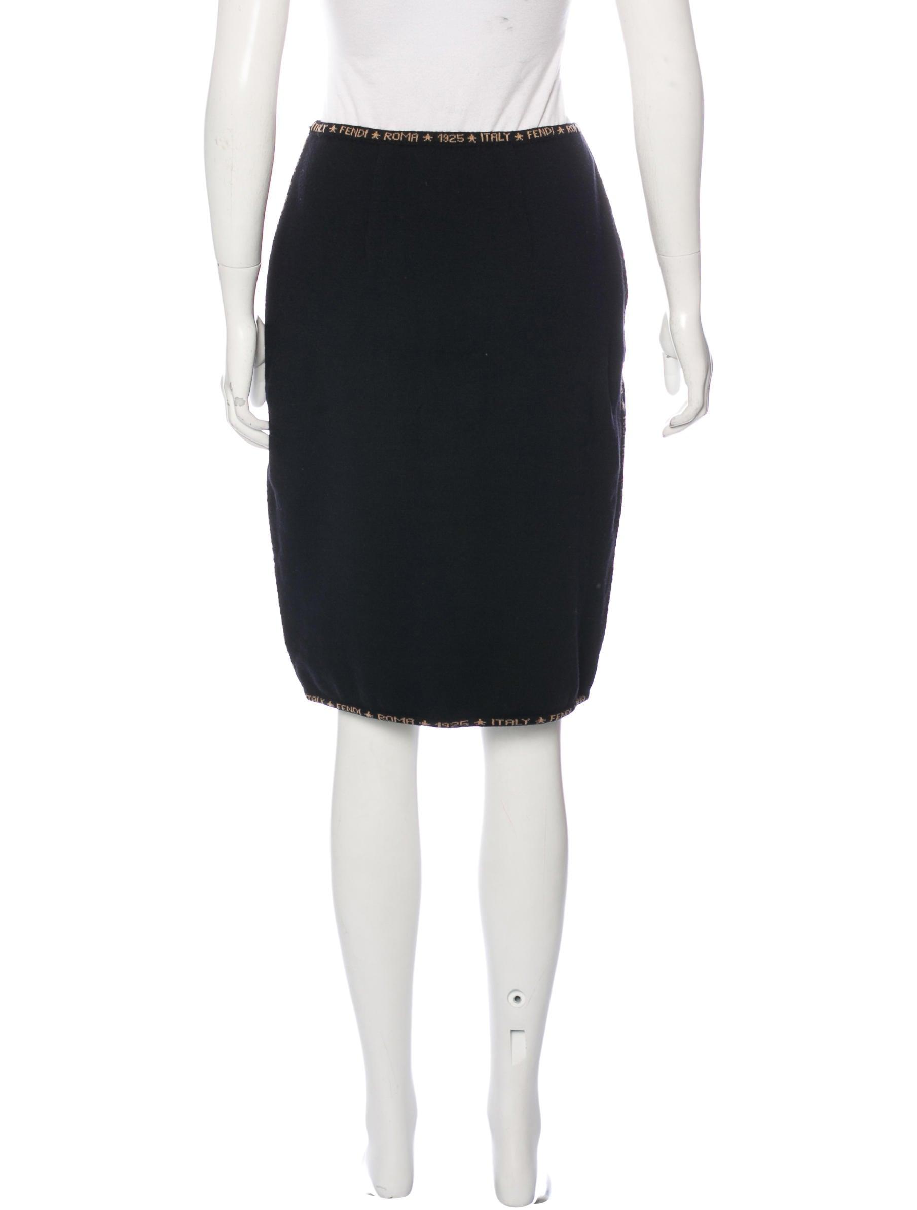 Fendi Knit Pencil Skirt - Clothing - FEN53592 | The RealReal