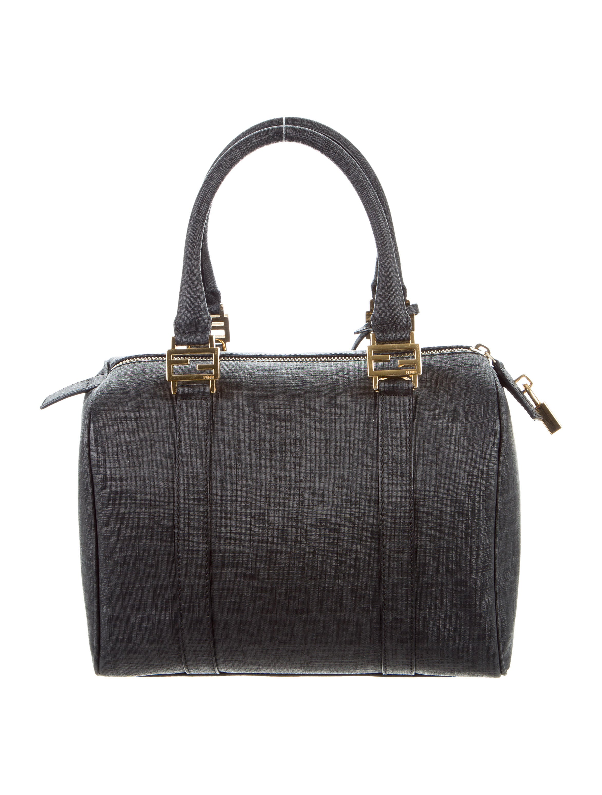 Boston Bag Patchwork Tutorial: Fendi Zucchino Boston Bag - Handbags - FEN54709