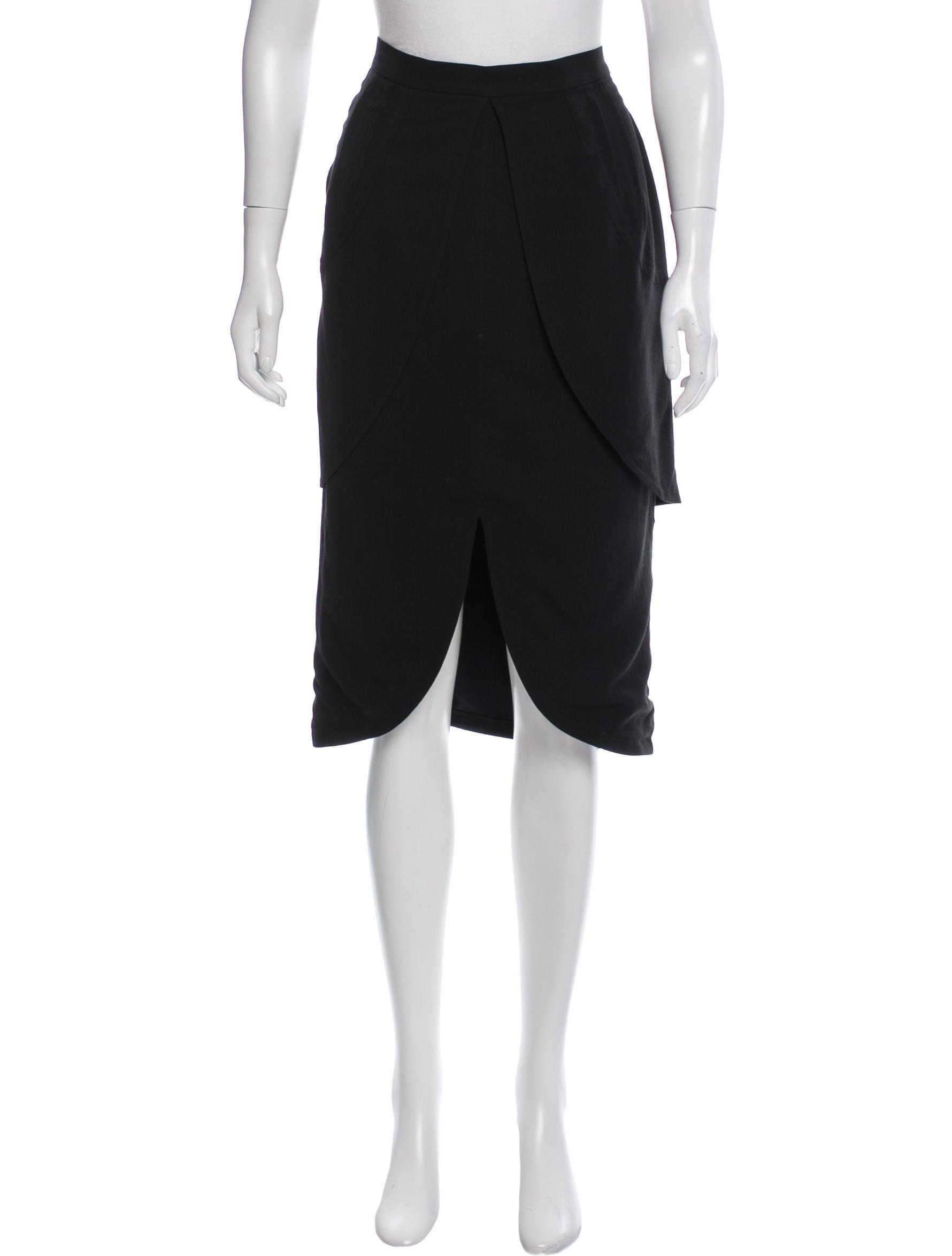 fendi knee length peplum skirt clothing fen54931 the