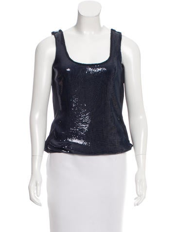 Fendi Sequin-Embellished Silk Top None