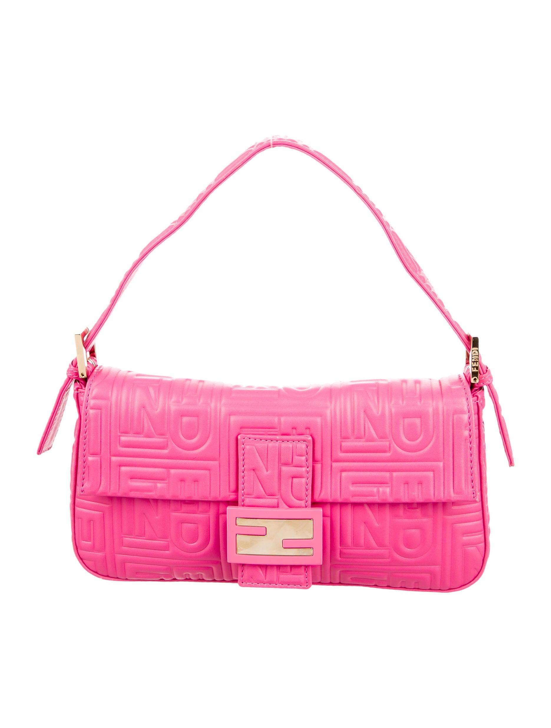 e4c9ba0f30 Fendi Embossed Nappa Leather Baguette - Handbags - FEN55274 | The ...