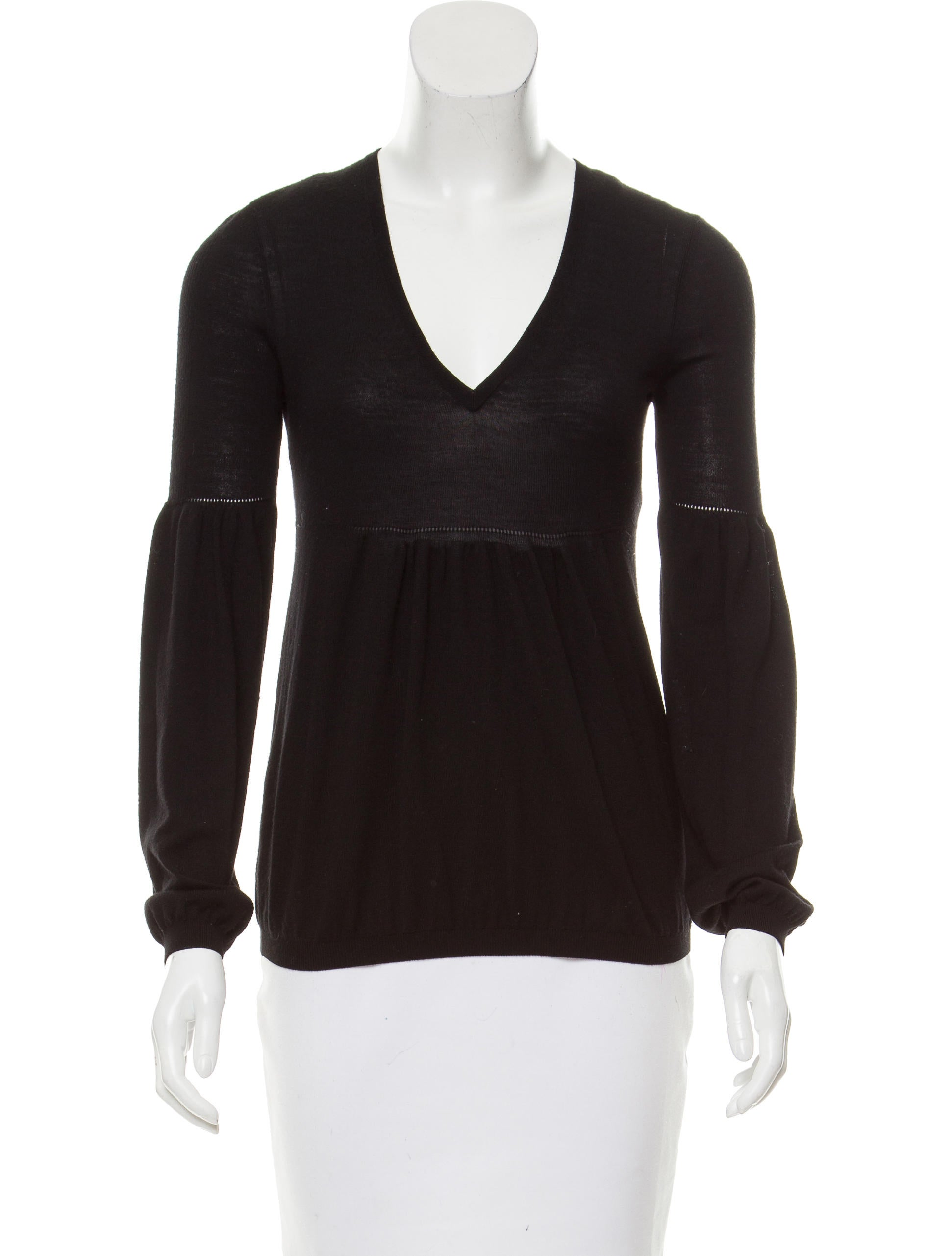 Fendi wool knit top clothing fen55648 the realreal for Best wool shirt jackets