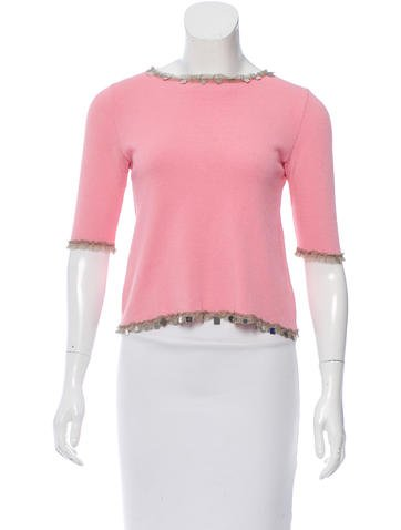 Fendi Embellished Knit Top None