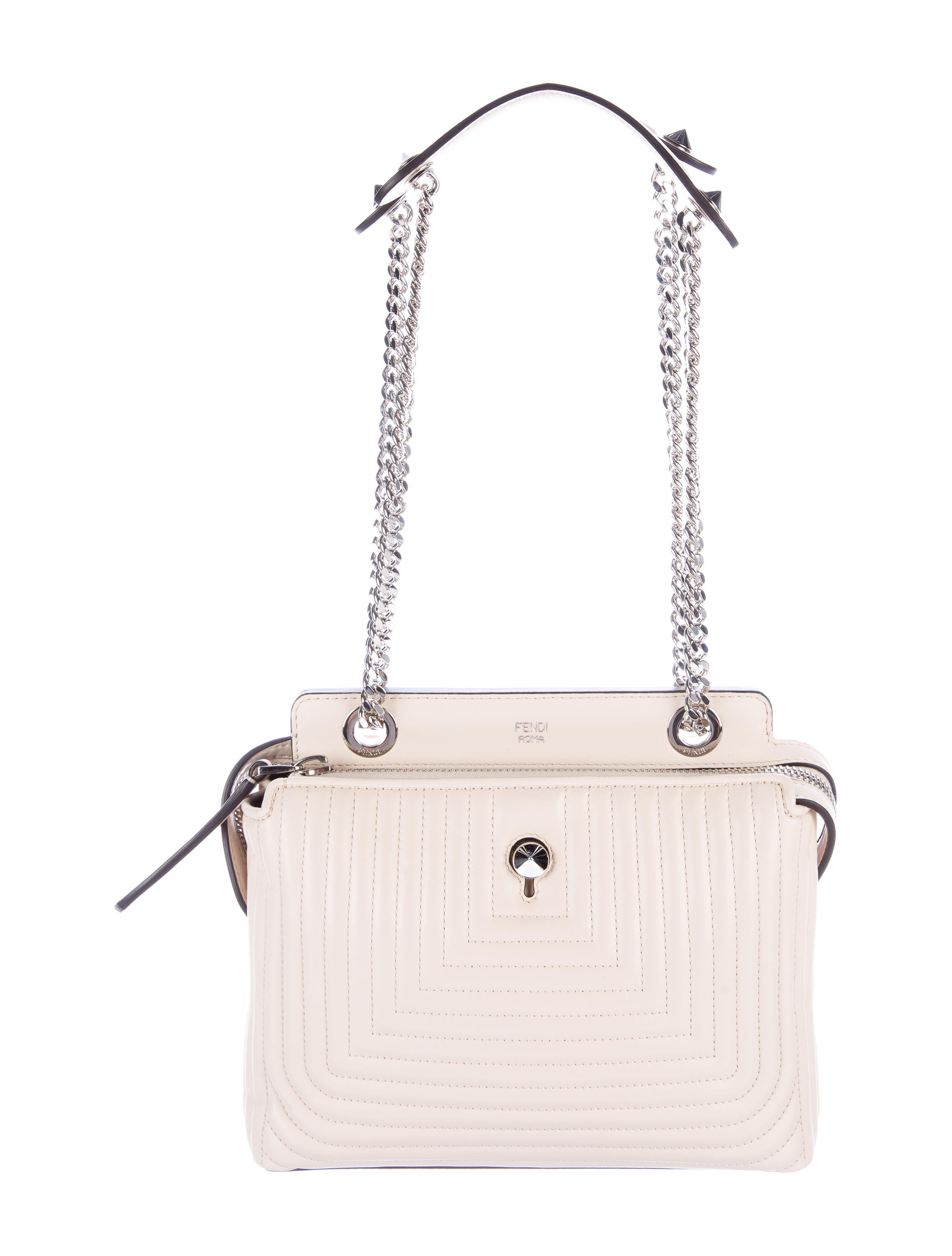 6a7744822ced Fendi Dotcom Click Small Quilted Chain Shoulder Bag - Handbags ...