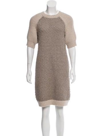 Fendi Metallic Sweater Dress None