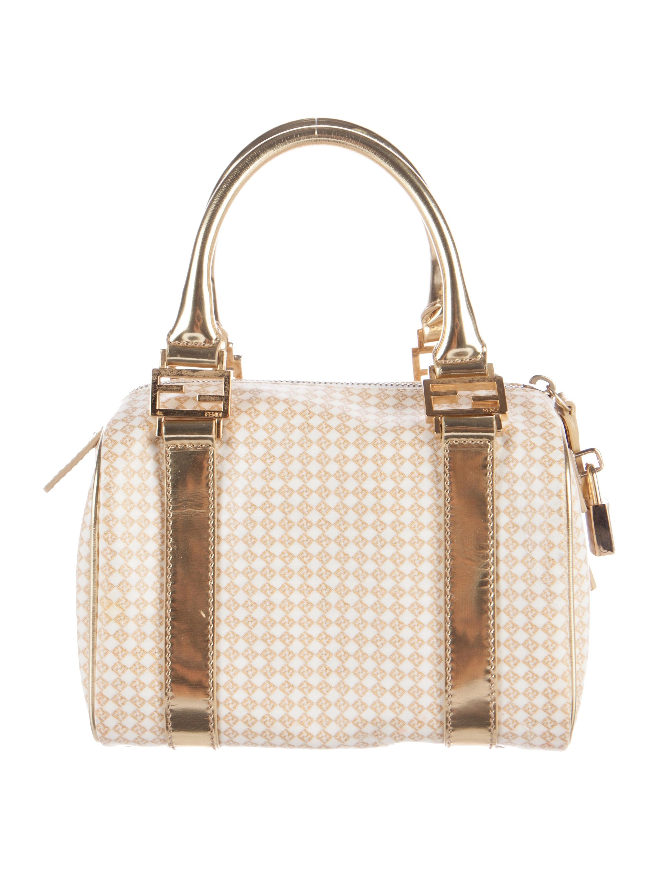 Boston Bag Patchwork Tutorial: Fendi Zucchino Mini Boston Bag - Handbags - FEN56257