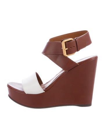 Fendi Leather Platform Wedges None