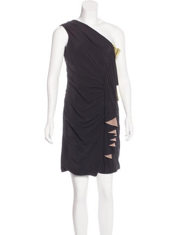 Fendi Silk Ruched Dress None