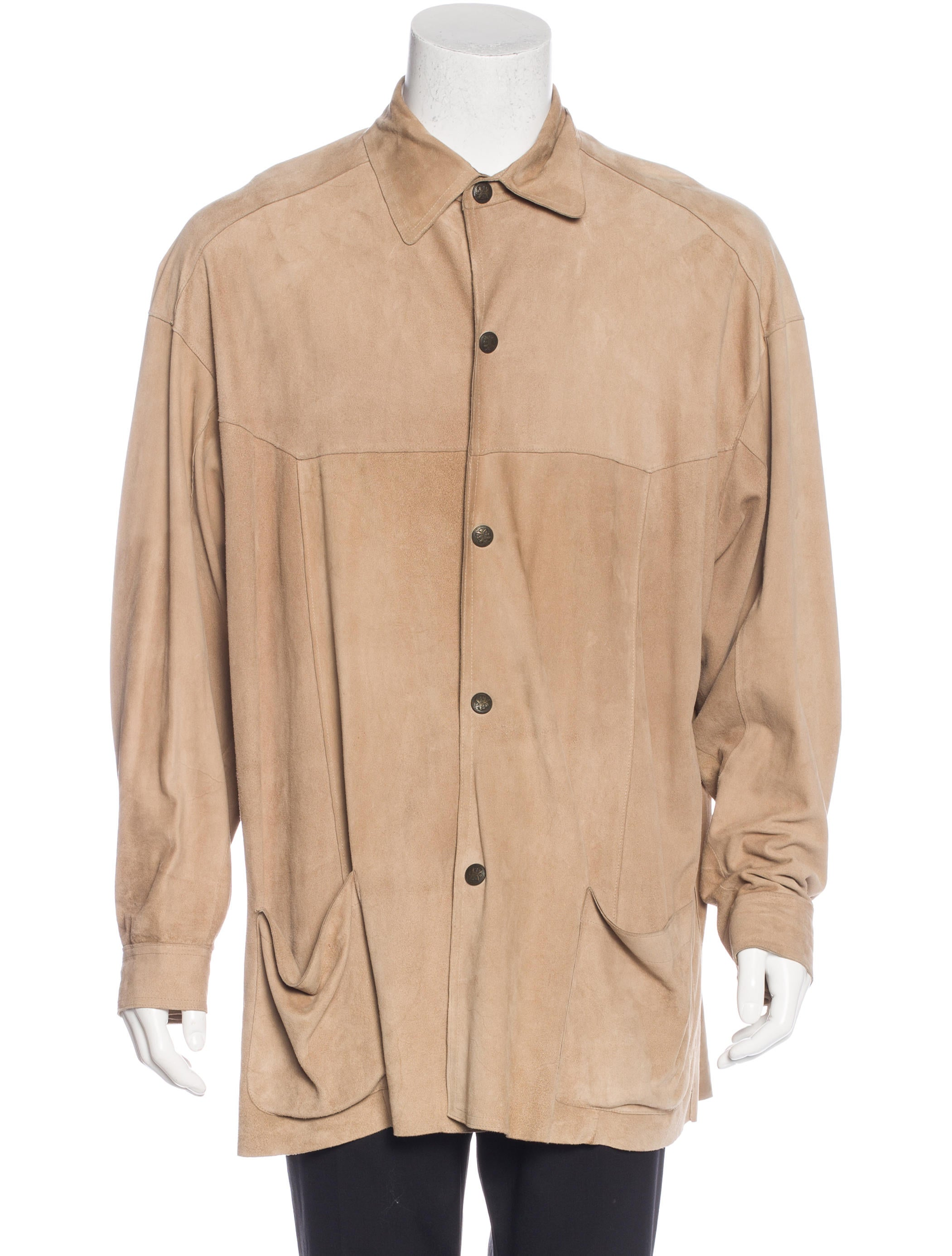 Fendi Suede Shirt Jacket Clothing Fen56469 The Realreal