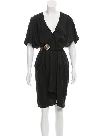 Fendi Embellished Silk Dress None