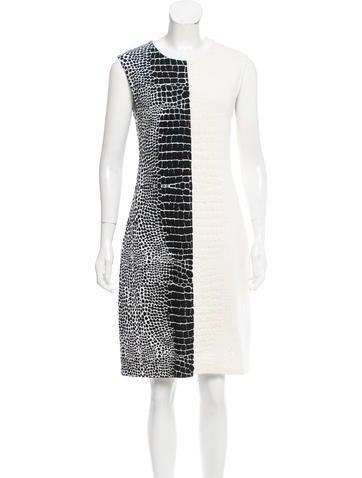Fendi Jacquard Colorblock Dress None