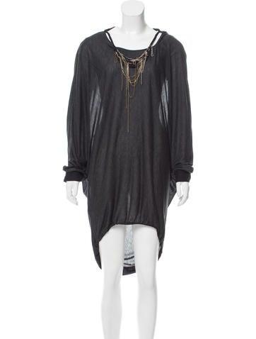 Fendi Embellished Silk-Trimmed Dress None