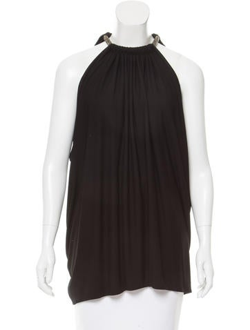 Fendi Sleeveless Draped Top None