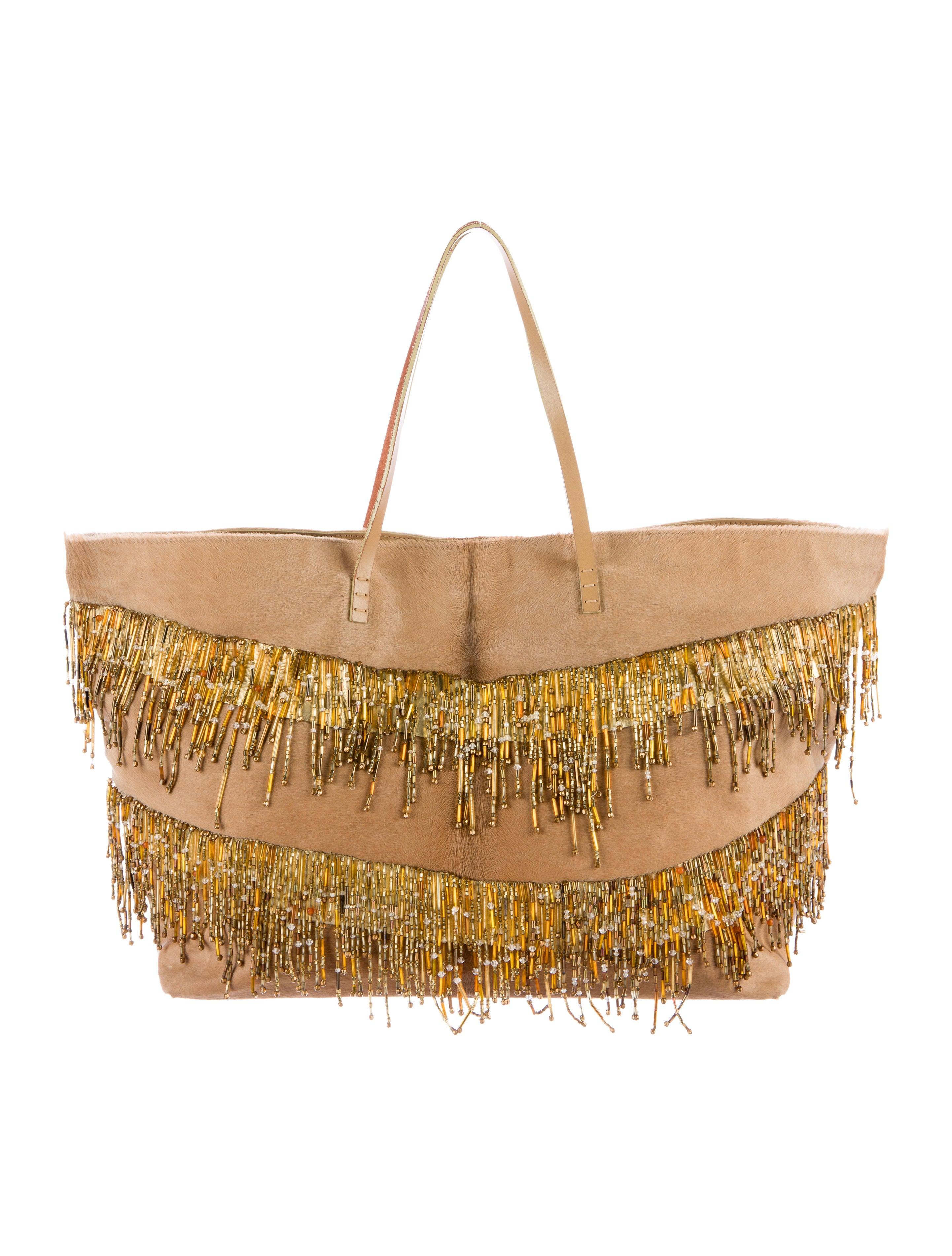 Fendi Beaded Ponyhair Matrioska Tote - Handbags - FEN57646  093166025c93d