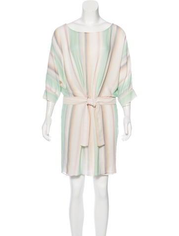 Fendi Silk Printed Dress None