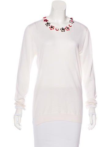 Fendi Cashmere Embellished Sweater None