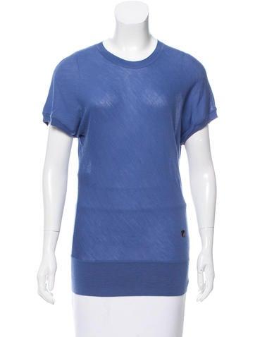 Fendi Short-Sleeve Wool Top w/ Tags None