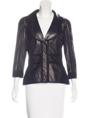 Fendi Leather Paneled Blazer None