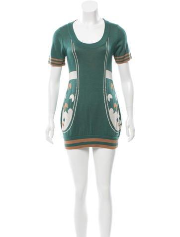 Fendi Intarsia Sweater Dress None