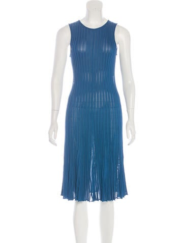 Fendi Sleeveless Rib Knit Dress None