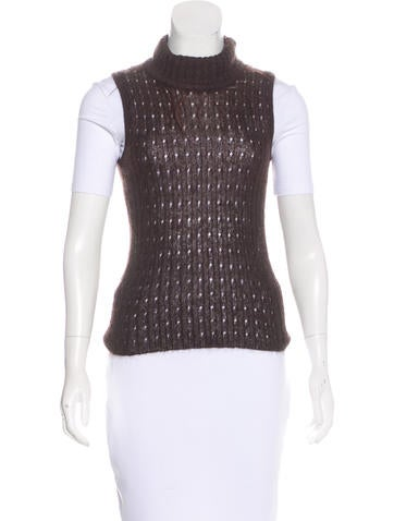Fendi SleevelessTurtleneck Top None