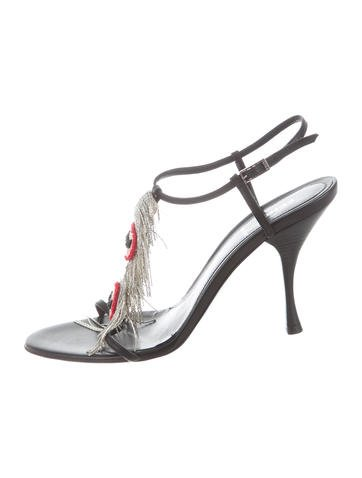 Fendi Embellished Fringe Sandals None
