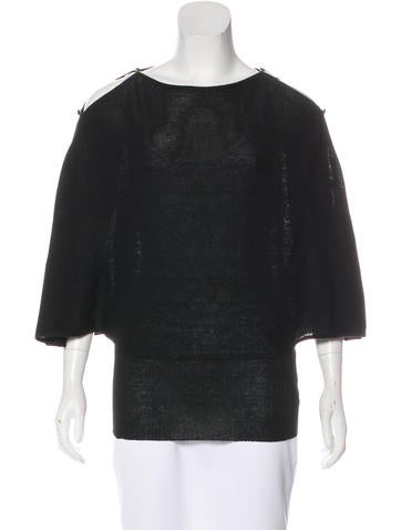 Fendi Long Sleeve Knit Top None