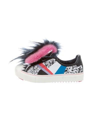 Fendi 2016 Fur-Trimmed Flynn Sneakers None