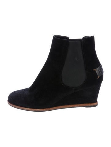 fendi suede ankle wedge boots shoes fen58893 the
