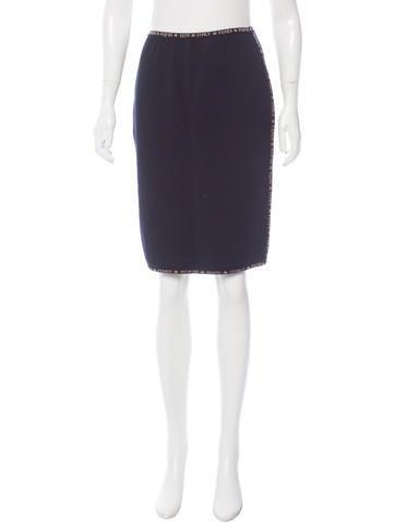 Fendi Wool Logo Skirt None