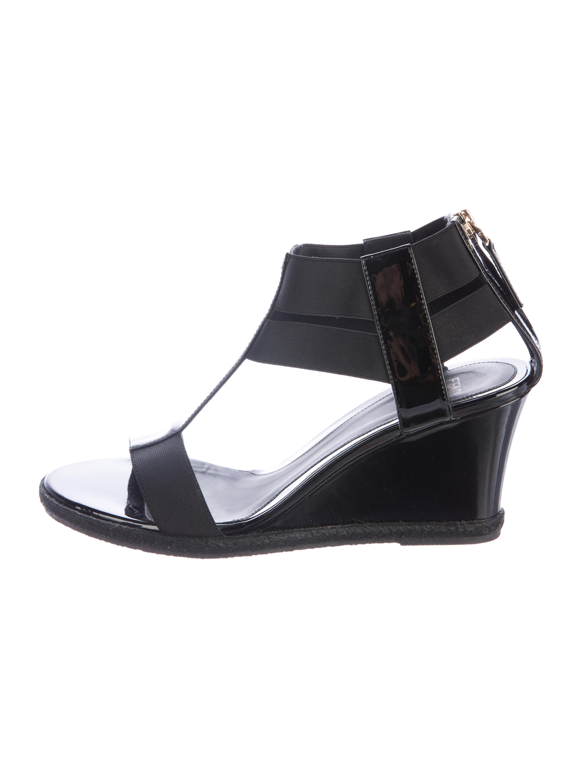 fendi patent leather wedge sandals shoes fen58990
