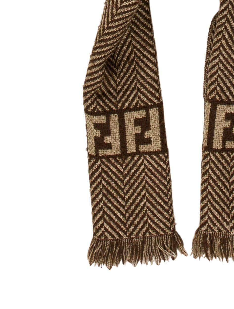 fendi wool patterned scarf accessories fen59039 the