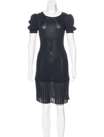 Fendi Short Sleeve Knit Dress None