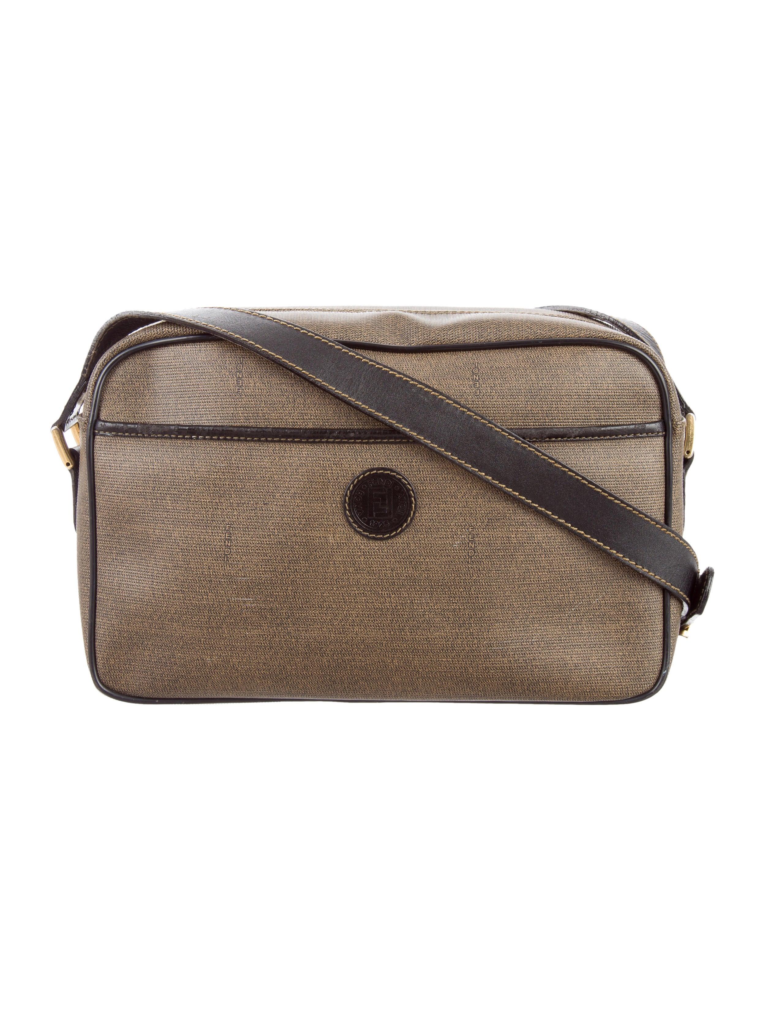 2e128c7334 Fendi Vintage Leather Trimmed Crossbody Bag - Handbags - FEN59272