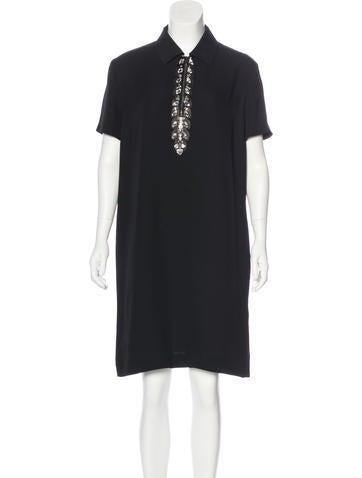 Fendi Silk Embellished Dress None