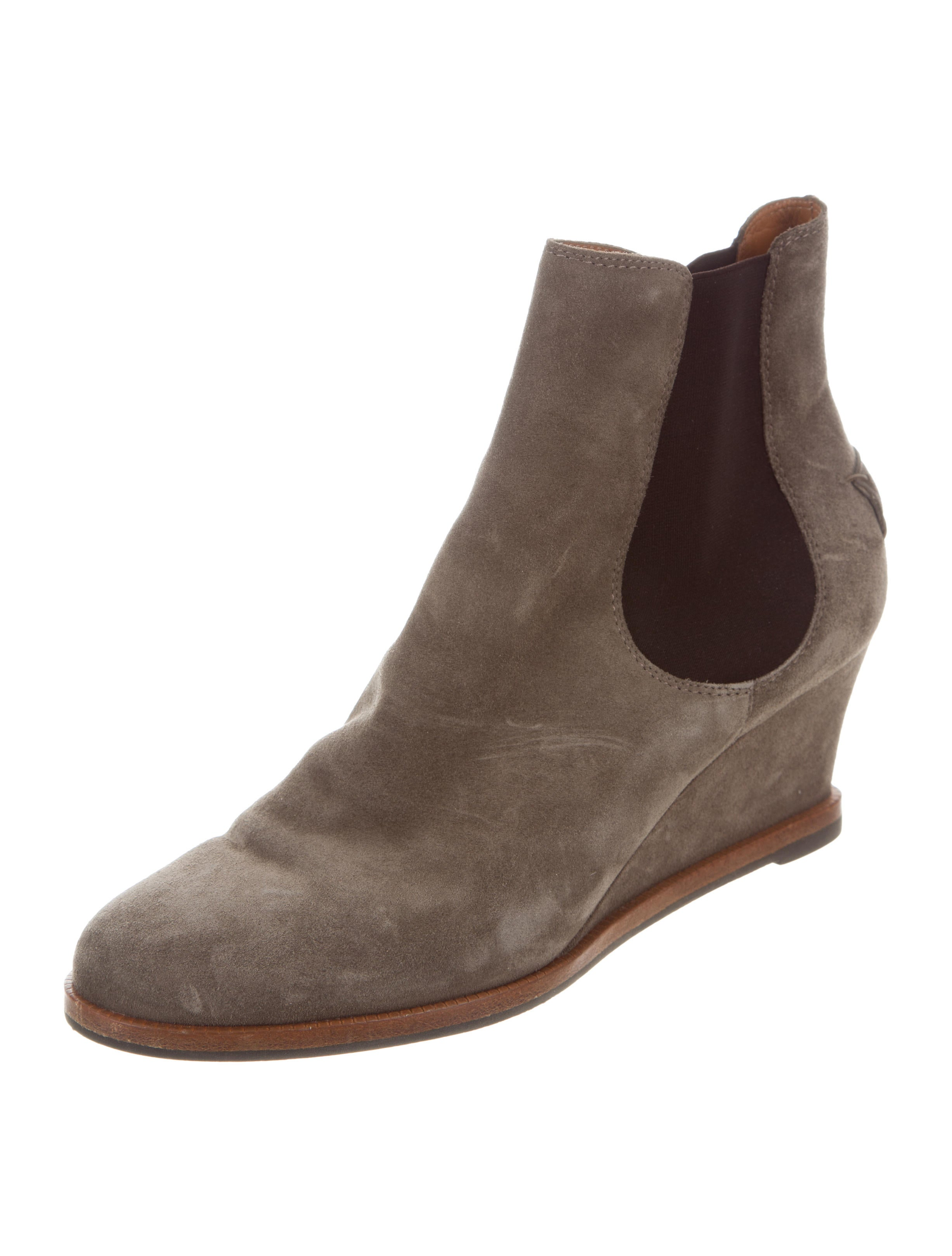 fendi suede wedge ankle boots shoes fen60001 the