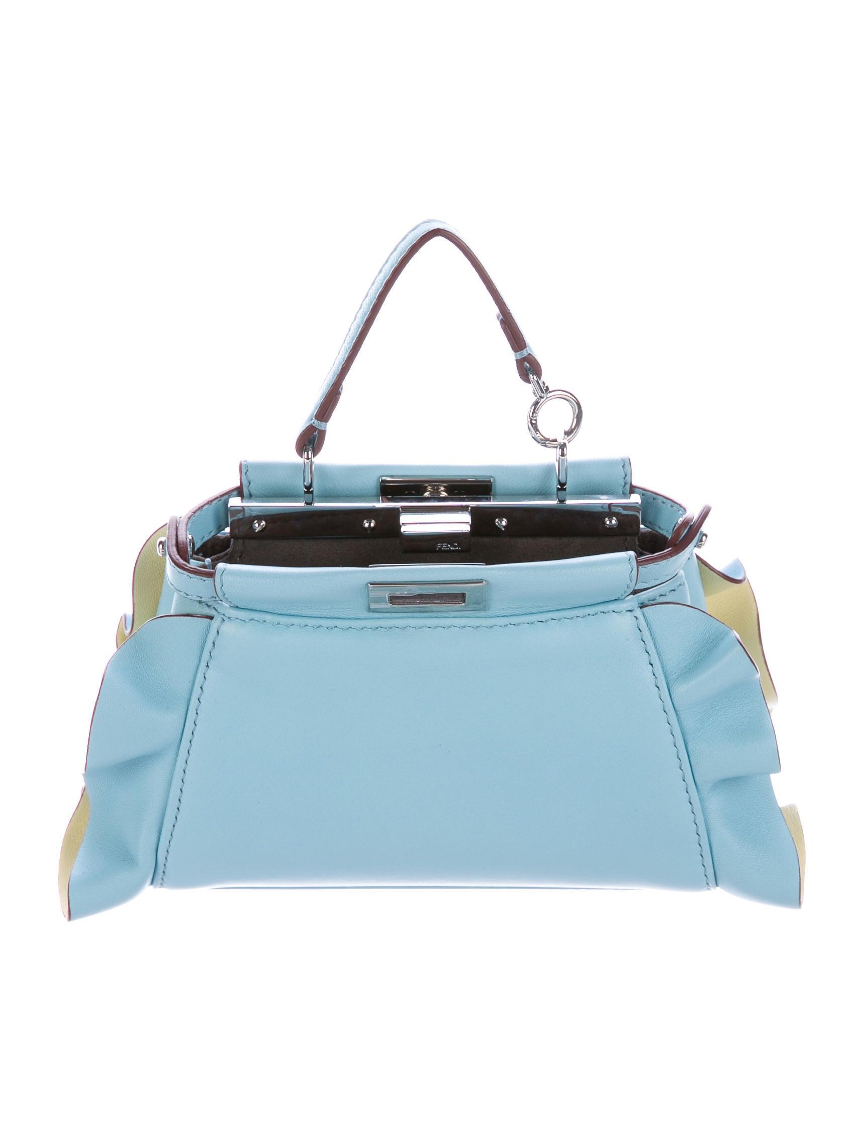 7d1c1627bfe8 Fendi Micro Peekaboo Wave Bag - Handbags - FEN60003