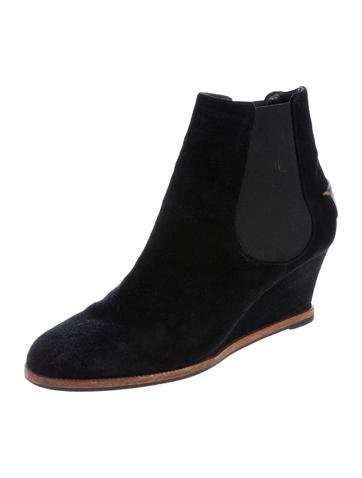fendi suede ankle wedge boots shoes fen60498 the