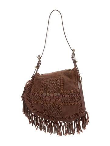 Fendi Fringe-Trimmed Shoulder Bag None