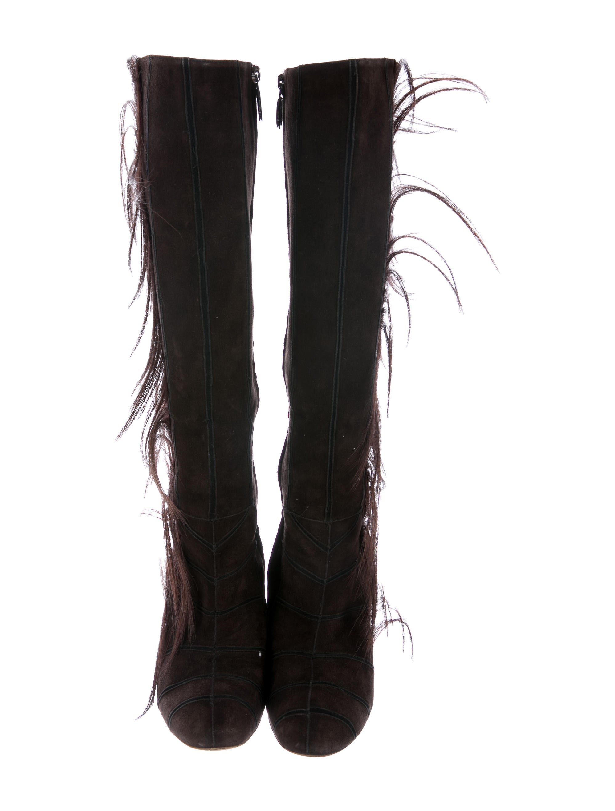 Fendi Goat-Hair Knee-High Boots free shipping nicekicks cheap sale original under 70 dollars DWh4CzImh0
