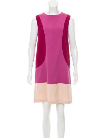 Fendi Colorblock Wool Dress None