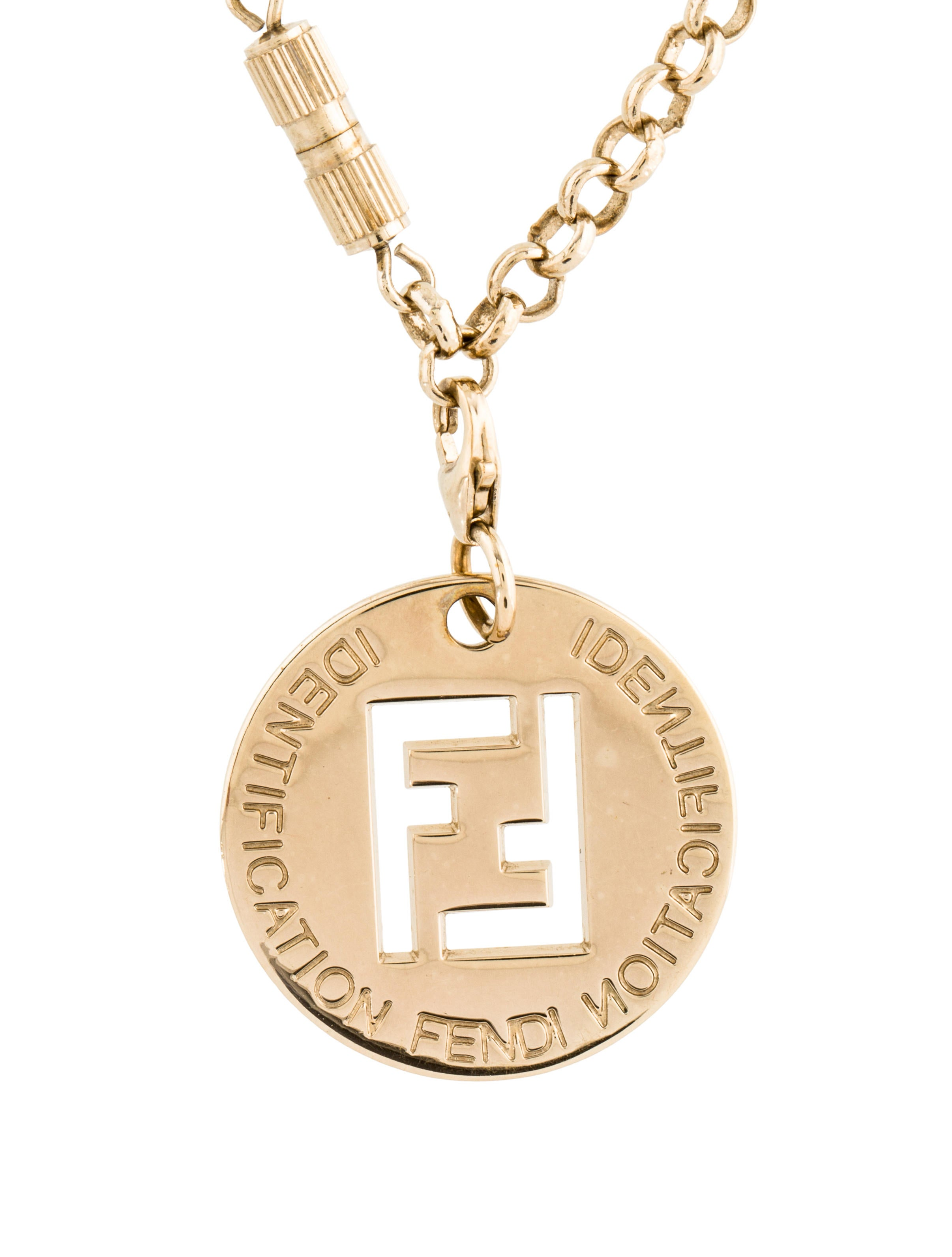 Fendi necklace letters best necklace 2017 fendi letters necklace bag charms keychain accessories mozeypictures Images