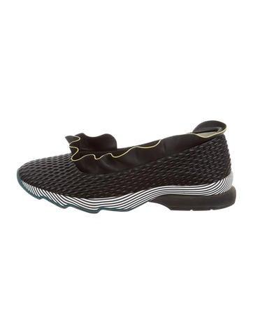 Fendi Leather Slip-On Sneakers None