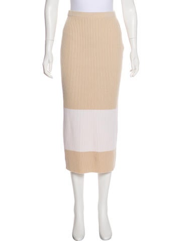 Fendi Colorblock Knit Skirt None